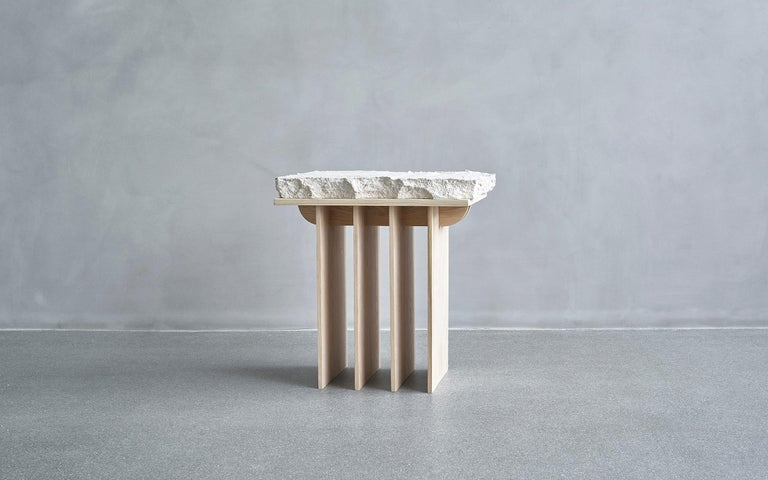 One-off a kind - Contemporary Design, Thinking space - stool, made by the art and design duo Andredottir & Bobek  They have in this collection imitated landscape with artificial materials and created an artificial scene of nature because art and