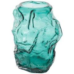 Contemporary Design Unique Glass 'Mountain' Vase by FOS- Ocean
