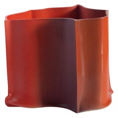 "Contemporary Design Unique Vase Ceramic ""BTM"" by Philipp Schenk-Mischke, Red"