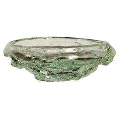 Contemporary Designed Clear Art Glass Bowl, 2019