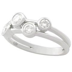 Contemporary Diamond 18 Carat White Gold Raindance Style Ring