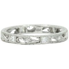 Contemporary Diamond 18 Karat White Gold Eternity Band Ring