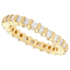 Contemporary Diamond and Yellow Gold Full Eternity Ring