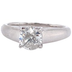 Contemporary Diamond Engagement Ring