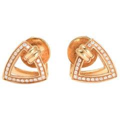 Contemporary Diamond Rose Gold Mauboussin Cufflinks