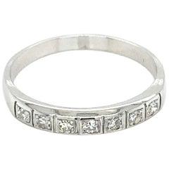 Contemporary Diamond Seven-Stone Band Ring