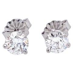 Contemporary Diamond Stud Earrings