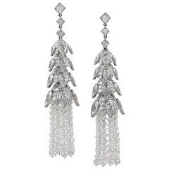 Contemporary Diamond Tassel Earrings