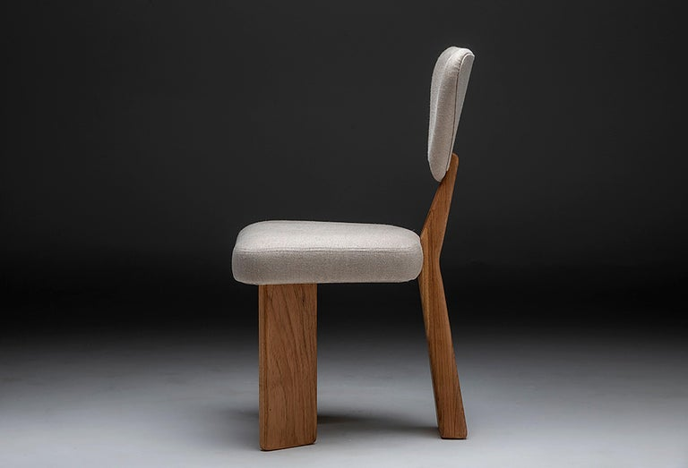 Contemporary Dining Chair in Solid Brazilian Walnut Wood by Juliana Vasconcellos For Sale 6