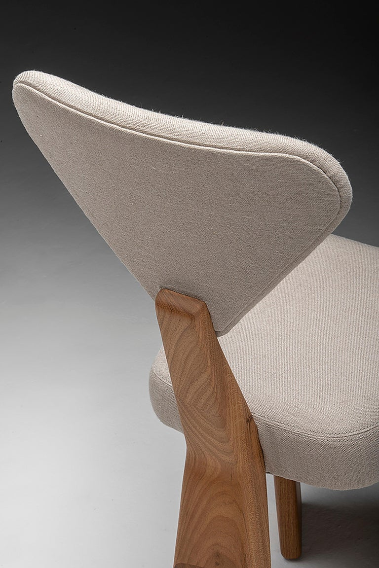 Contemporary Dining Chair in Solid Brazilian Walnut Wood by Juliana Vasconcellos For Sale 9