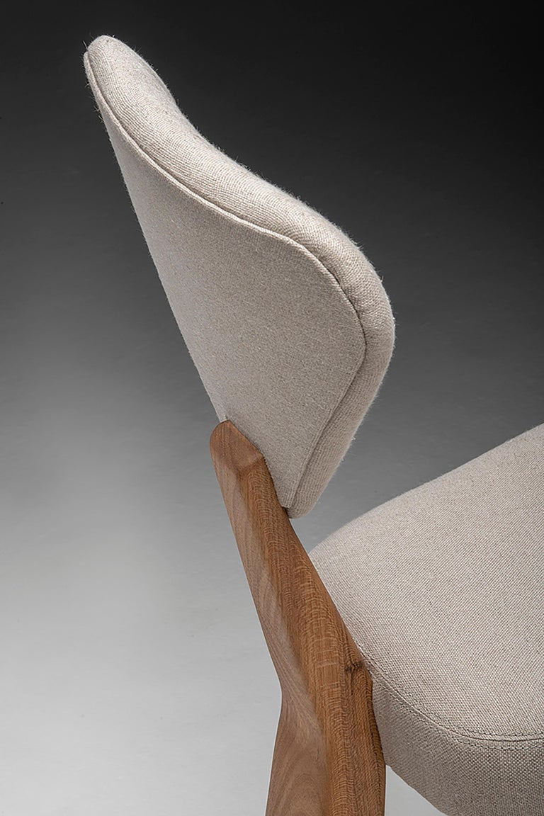 Contemporary Dining Chair in Solid Brazilian Walnut Wood by Juliana Vasconcellos For Sale 10