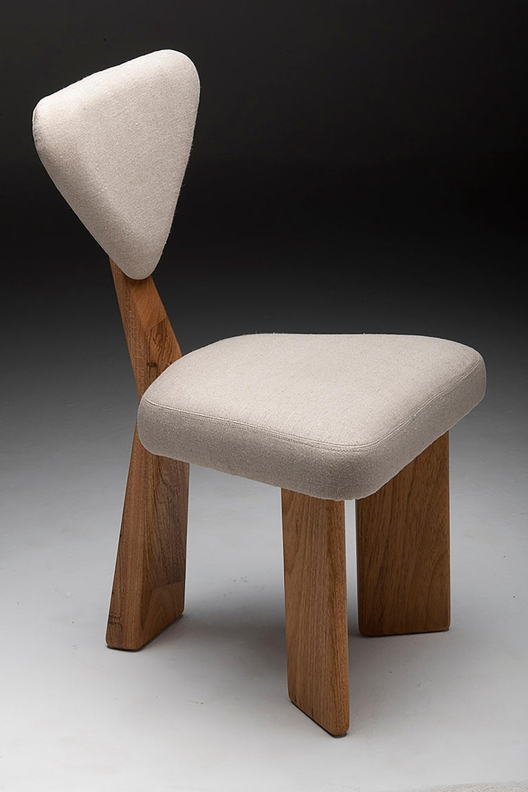 Contemporary Dining Chair in Solid Brazilian Walnut Wood by Juliana Vasconcellos For Sale 13