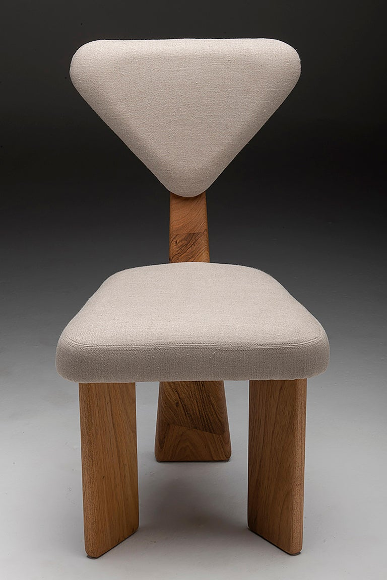 Contemporary Dining Chair in Solid Brazilian Walnut Wood by Juliana Vasconcellos For Sale 14