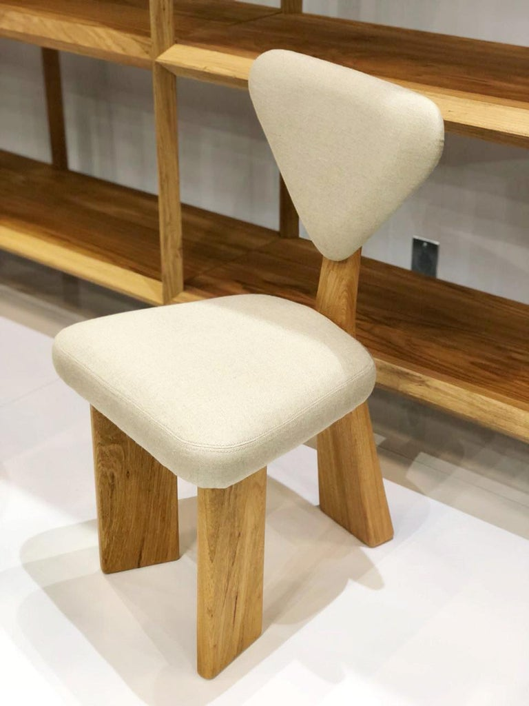 Contemporary Dining Chair in Solid Brazilian Walnut Wood by Juliana Vasconcellos For Sale 2