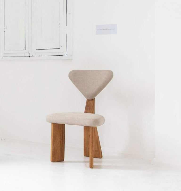 Contemporary Dining Chair in Solid Brazilian Walnut Wood by Juliana Vasconcellos For Sale 3