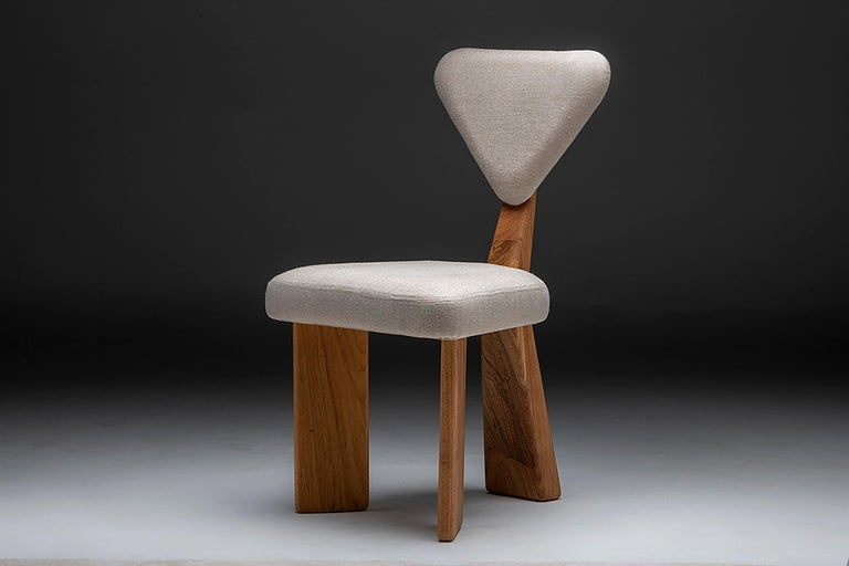 Contemporary Dining Chair in Solid Brazilian Walnut Wood by Juliana Vasconcellos For Sale 5