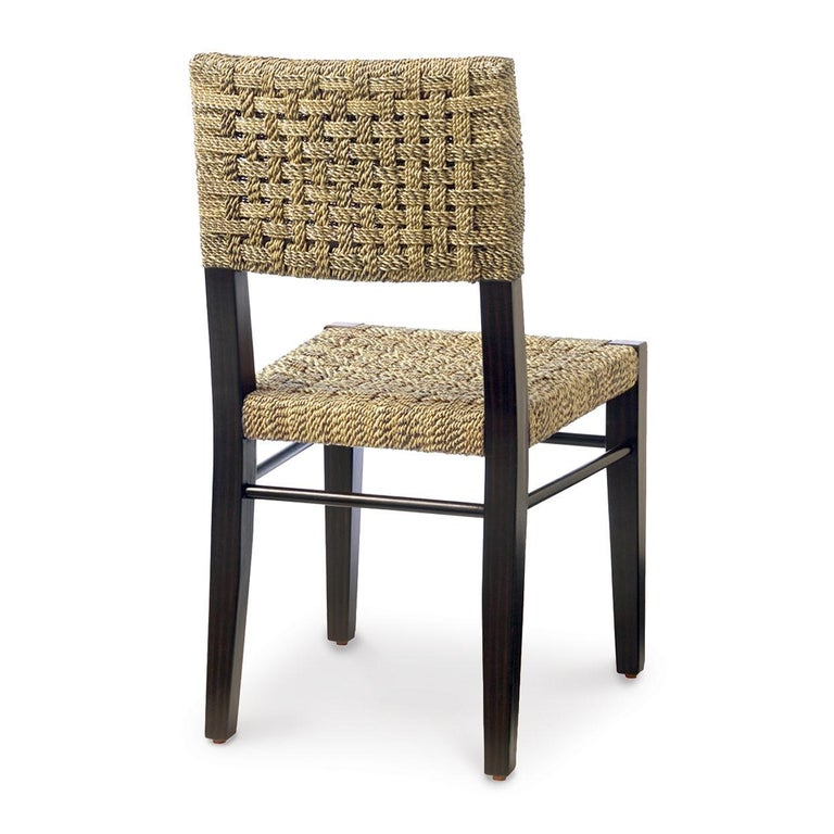 North American Contemporary Dining Chairs in Natural Woven Rope For Sale