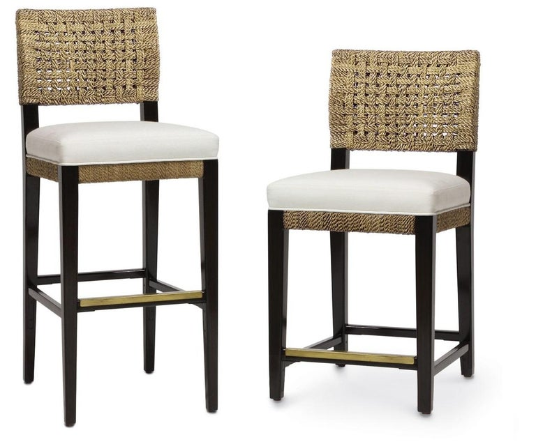 Contemporary Dining Chairs in Natural Woven Rope In New Condition For Sale In New York, NY