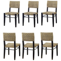 Contemporary Dining Chairs in Natural Woven Rope