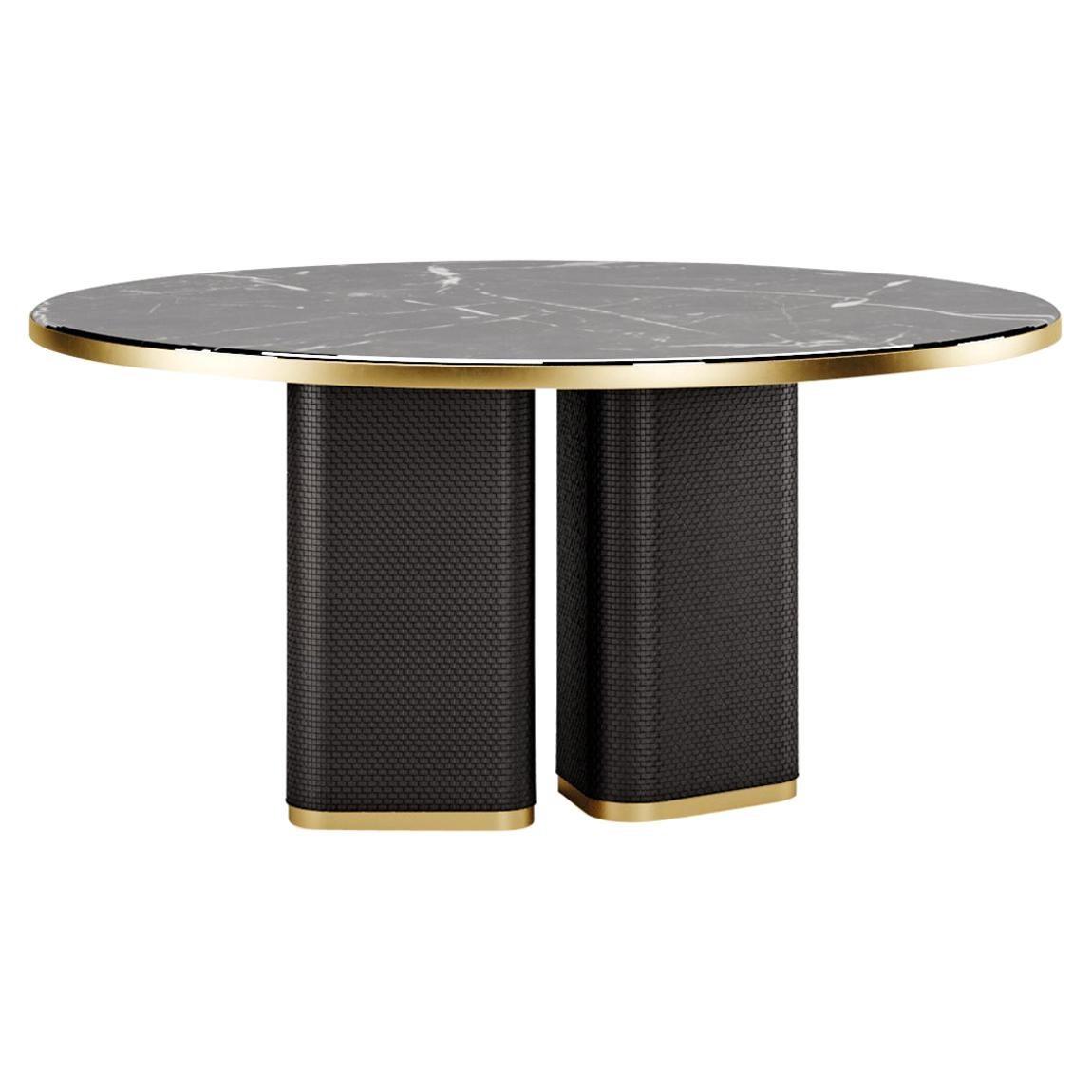 Contemporary Dining Table by Fabio Arcaini Marble Velvet