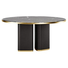 Contemporary Dining Table by Fabio Arcaini Marble Velvet
