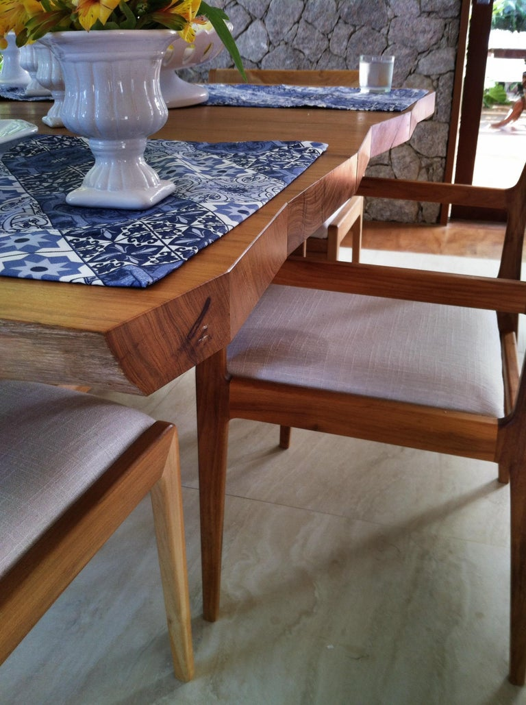 Joinery Dining Table in Brazilian Hardwood by Ricardo Graham Ferreira For Sale