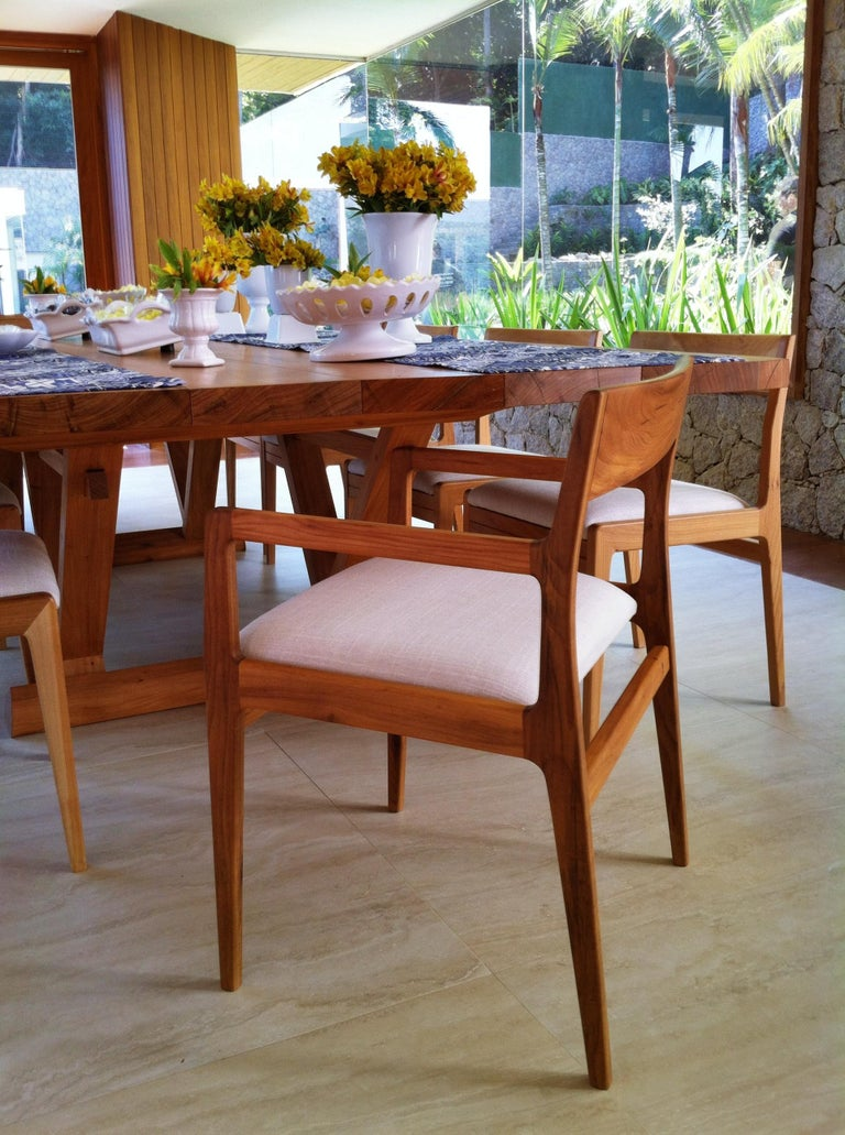 Contemporary Dining Table in Brazilian Hardwood by Ricardo Graham Ferreira For Sale