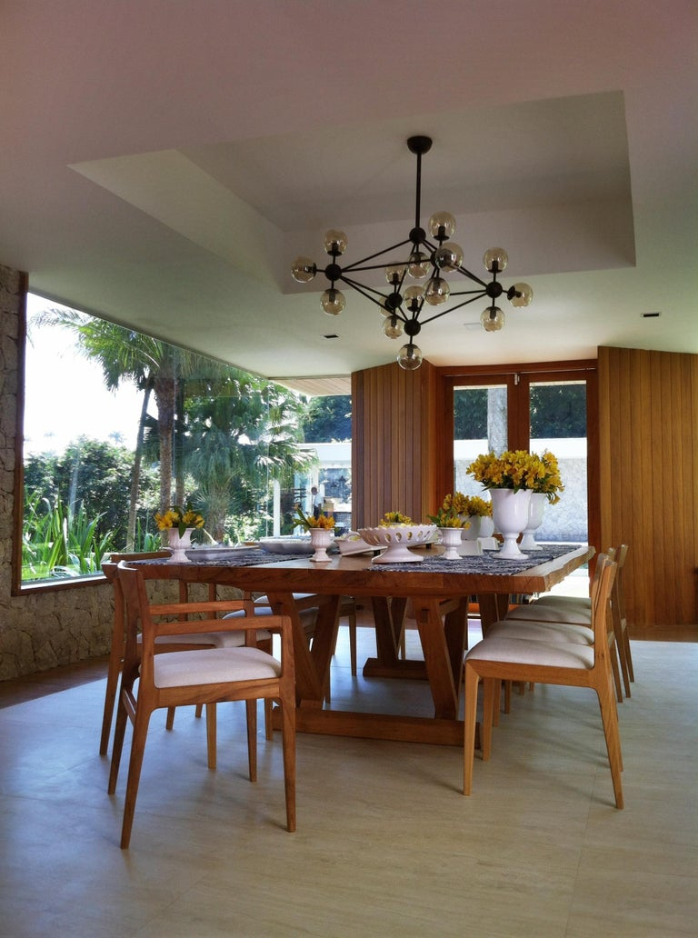 Dining Table in Brazilian Hardwood by Ricardo Graham Ferreira For Sale 1