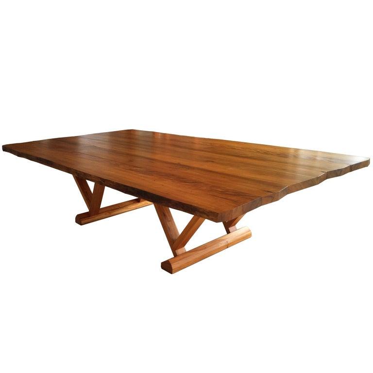 Dining Table in Brazilian Hardwood by Ricardo Graham Ferreira For Sale