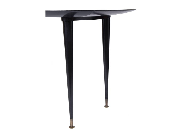 Brazilian Giuseppe Scapinelli Midcentury brazilian Dining Table in Black Lacquered Wood