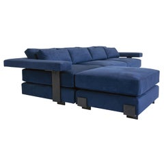 Contemporary Down Filling Sectional Modern Sofa with Hand Carved Steal Details