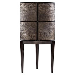 Davidson's Contemporary Galaxy Drinks Cabinet in Bronze and Sycamore Black