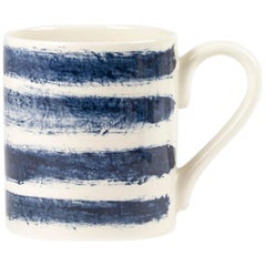 Contemporary Earthenware Tankard with Classic Tones of English Delftware