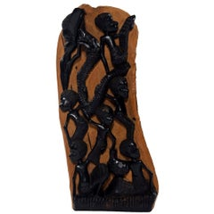 Contemporary Ebony Makonde African Wood Carving
