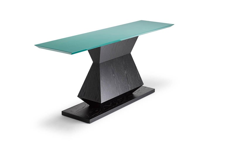 Modern Contemporary Edo Console Table in Oak or Walnut For Sale