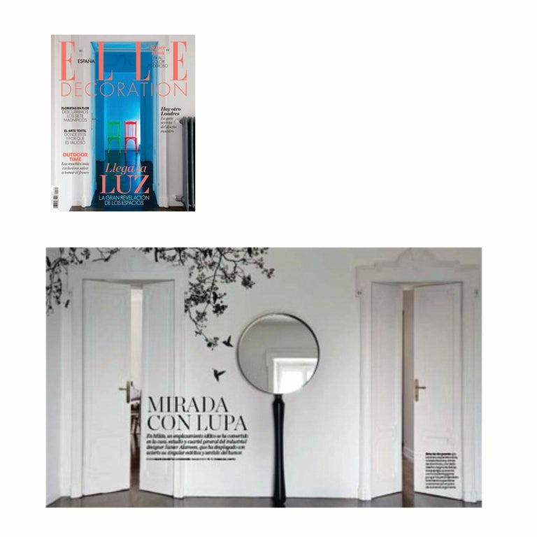Contemporary Ego Standing Floor or Wall Mounted Mirror with Metal or Wood Base In Good Condition For Sale In Milan, Lombrady