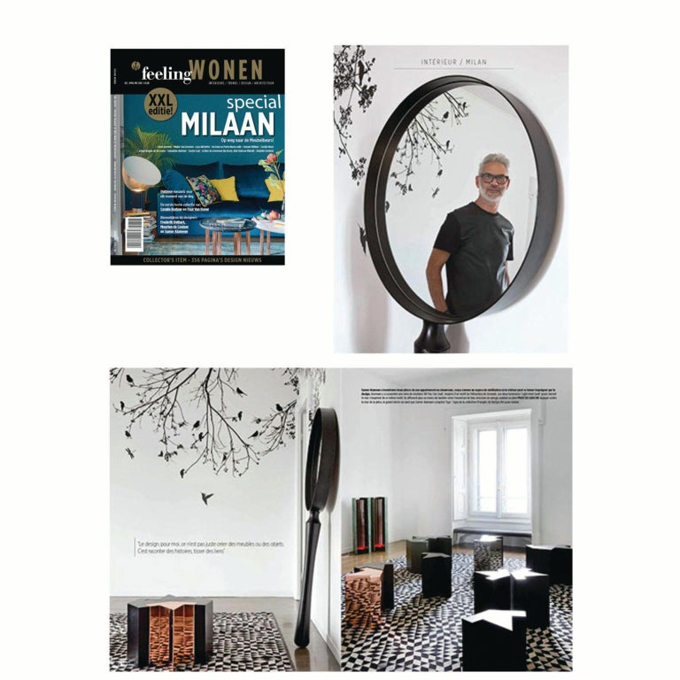 Contemporary Ego Standing Floor Or Wall Mounted Mirror