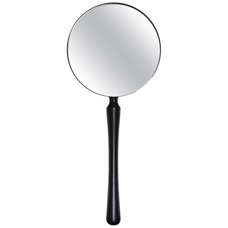 Contemporary Ego Standing Floor or Wall Mounted Mirror with Metal or Wood Base For Sale