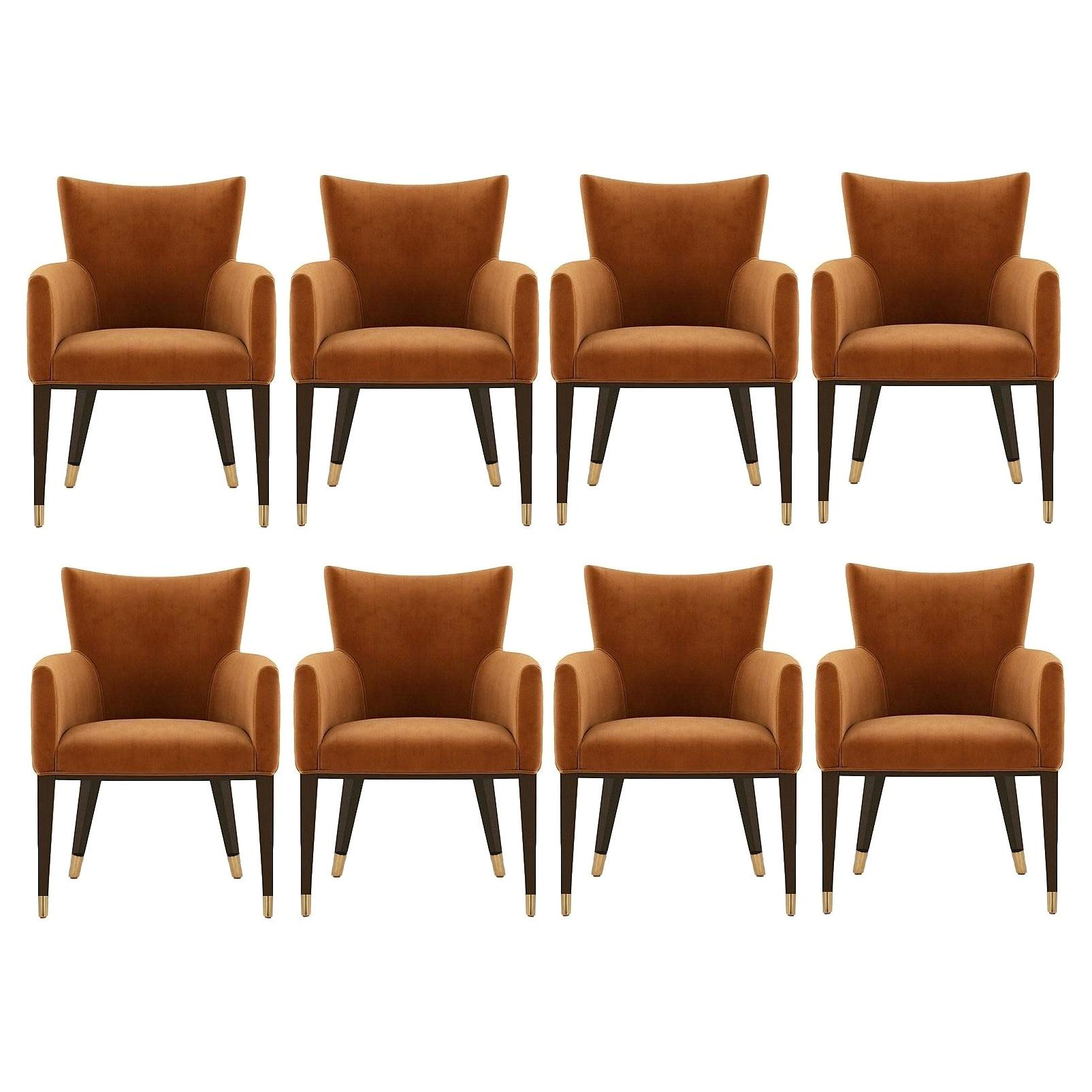 Contemporary Elegant Dining Chairs, Set of 8