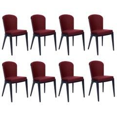 Contemporary Elegant Italian Dining Chairs, Set of 8