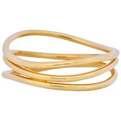 Contemporary Elsa Peretti Tiffany & Co. 18 Karat Gold Wave Band Ring