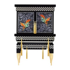 Contemporary Embroidered Cabinet