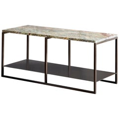 Contemporary Eros Side Table in Marble and Powder Coated Steel
