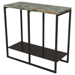 Contemporary Eros Side Table in Marble and Powder-Coated Steel