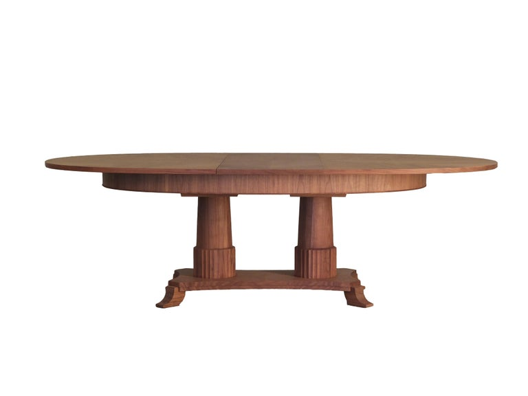 Contemporary extendable table in Biedermeier style made of cherry wood In New Condition For Sale In Salizzole, IT