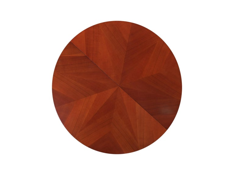 Contemporary Extendable Table in Biedermeier Style Made of Cherrywood For Sale 2