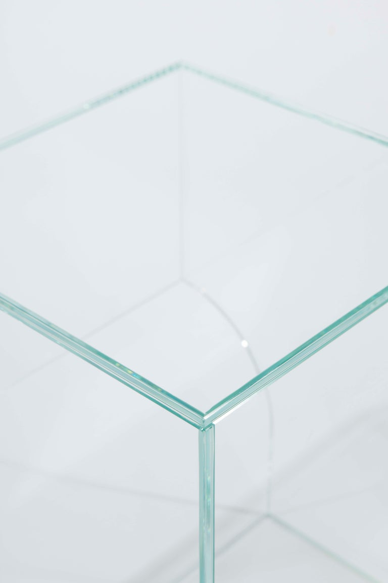Other Contemporary Extra Clear Glass Side Table, Arch 01.2 by Barh For Sale