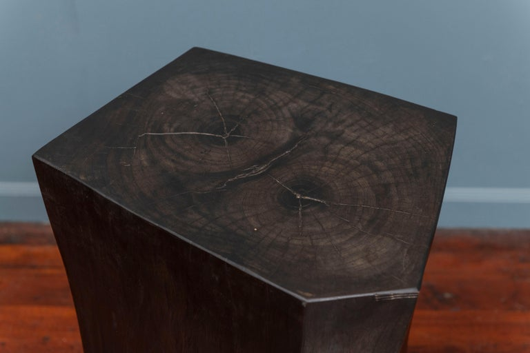 Brutalist Contemporary Faceted Side Table For Sale