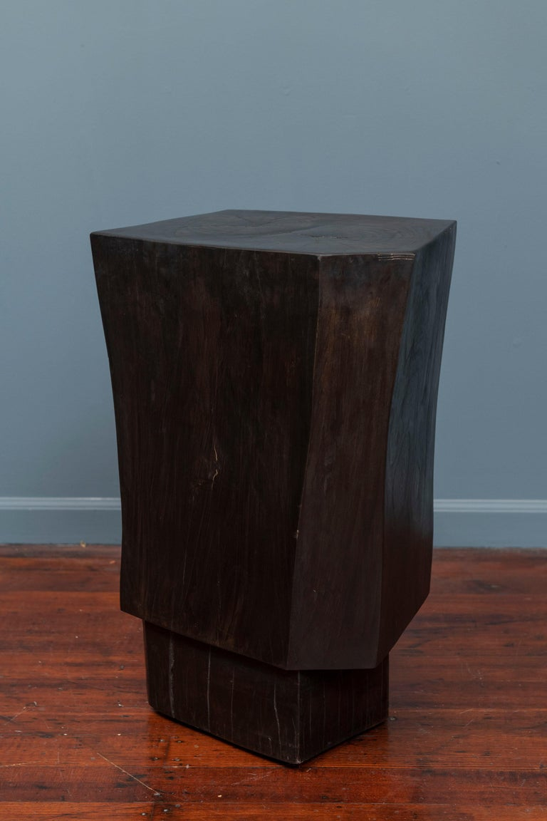 North American Contemporary Faceted Side Table For Sale