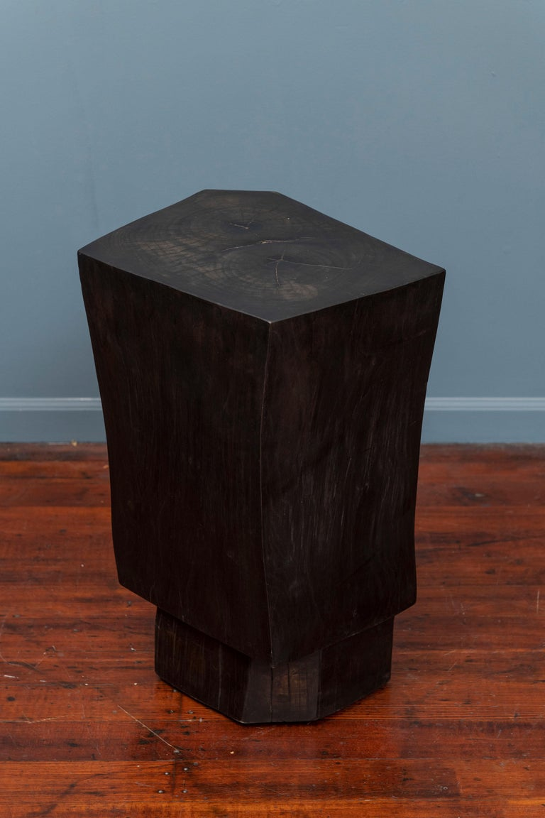 Ash Contemporary Faceted Side Table For Sale
